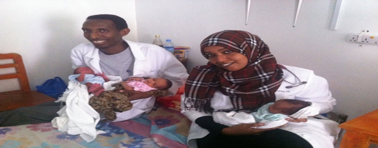 Residents with triplets delivered by Cesarean Section